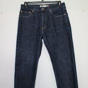 Levi's 505 Straight Fit Dark Blue Jeans 34x36